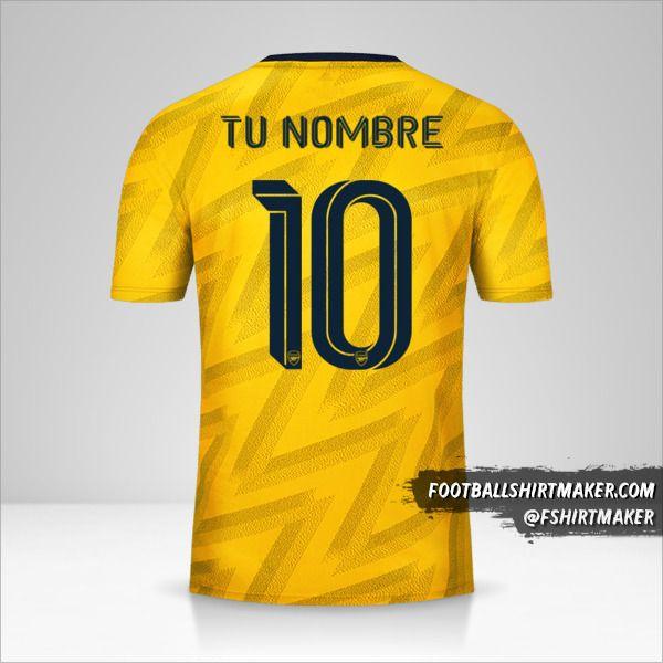 Jersey Arsenal 2019/20 Cup II número 10 tu nombre