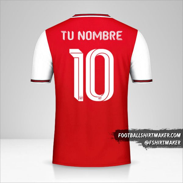 Jersey Arsenal 2019/20 Cup número 10 tu nombre