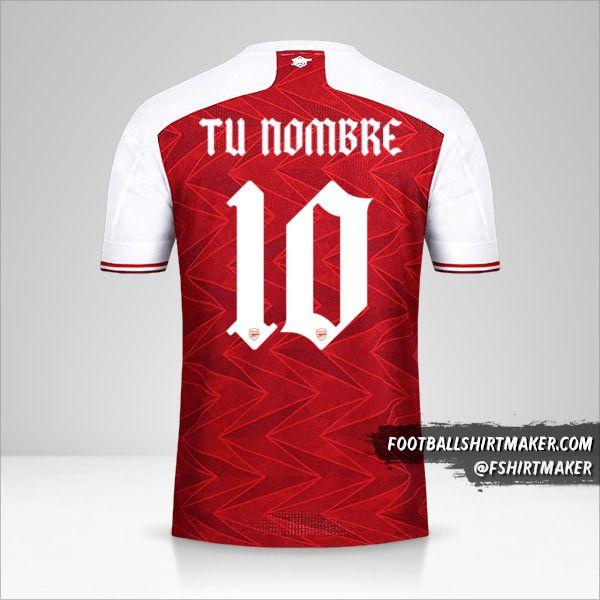 Jersey Arsenal 2020/21 Cup número 10 tu nombre