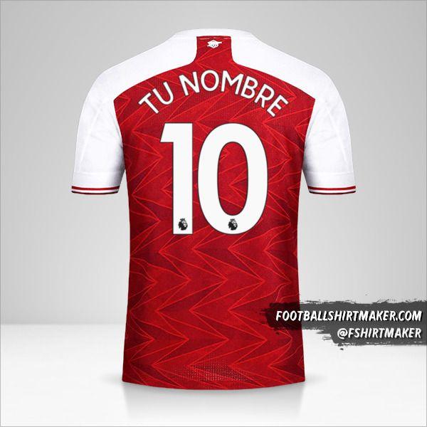 Jersey Arsenal 2020/21 número 10 tu nombre