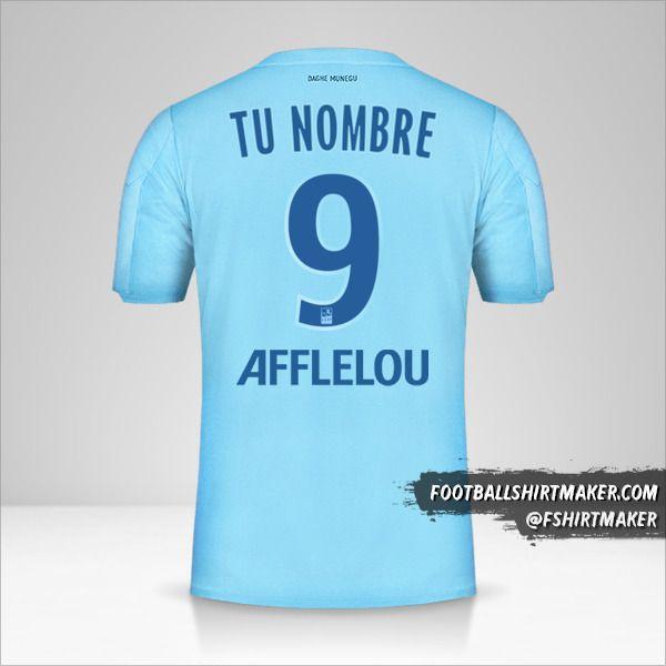 Jersey As Monaco 2019/20 III número 9 tu nombre