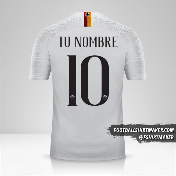 Jersey AS Roma 2018/19 II número 10 tu nombre