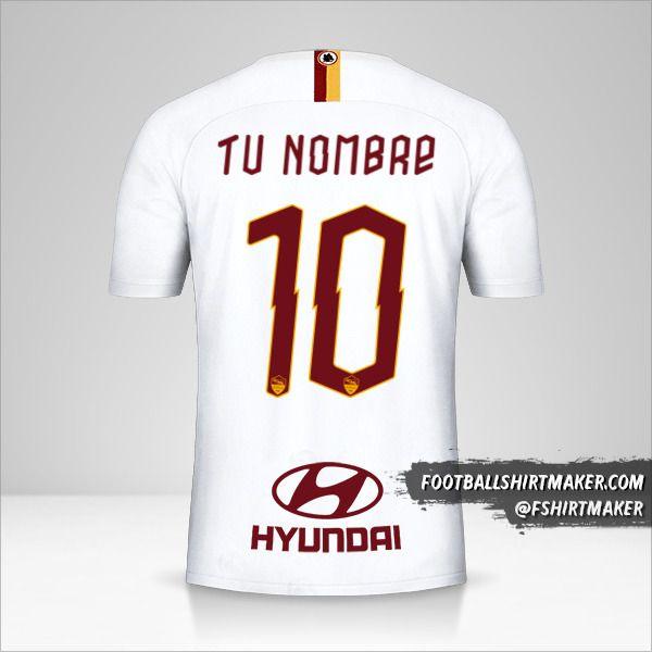 Jersey AS Roma 2019/20 II número 10 tu nombre