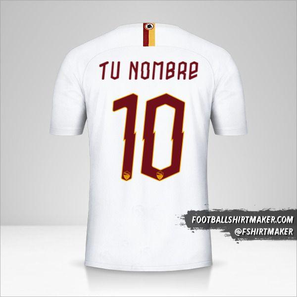 Jersey AS Roma 2019/20 Cup II número 10 tu nombre