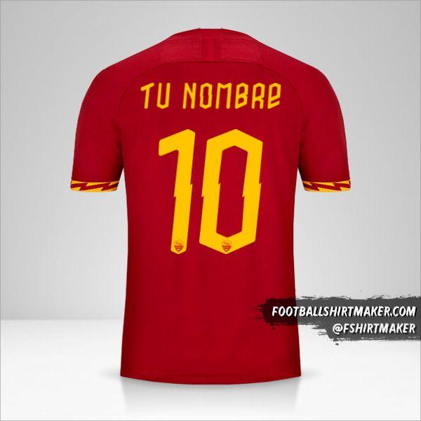 Jersey AS Roma 2019/20 Cup número 10 tu nombre