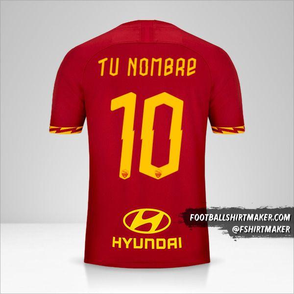 Jersey AS Roma 2019/20 número 10 tu nombre