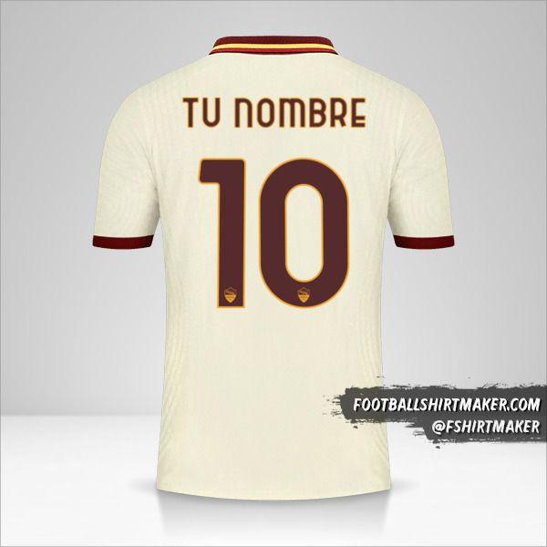 Jersey AS Roma 2020/21 Cup II número 10 tu nombre