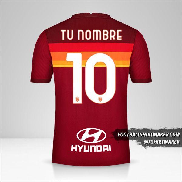 Jersey AS Roma 2020/21 número 10 tu nombre