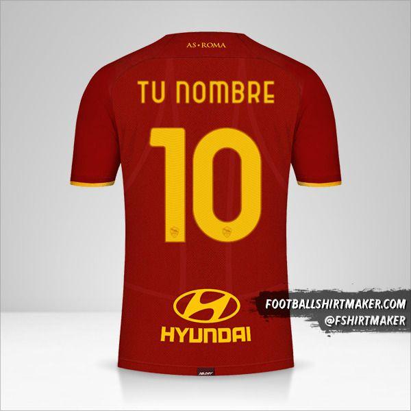 Jersey AS Roma 2021/2022 número 10 tu nombre