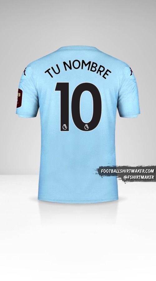 Jersey Aston Villa FC 2019/20 II número 10 tu nombre