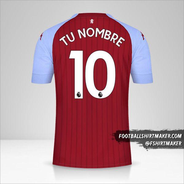 Jersey Aston Villa FC 2020/21 número 10 tu nombre