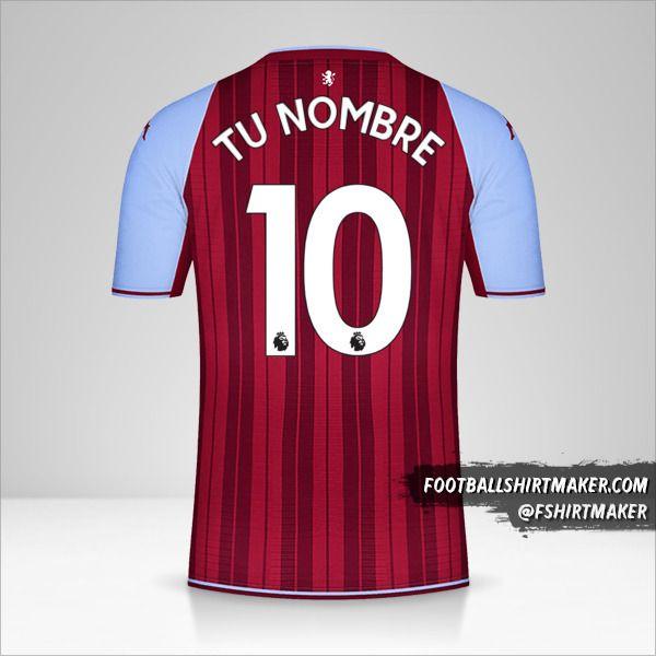 Jersey Aston Villa FC 2021/2022 número 10 tu nombre