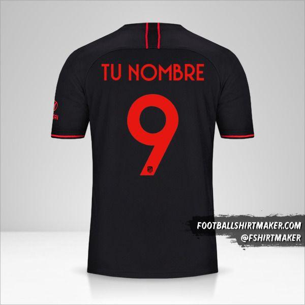 Jersey Atletico Madrid 2019/20 Cup II número 9 tu nombre