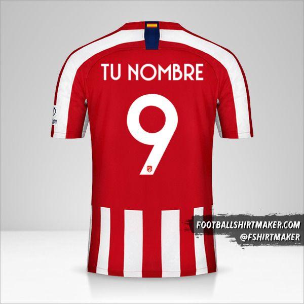 Jersey Atletico Madrid 2019/20 Cup número 9 tu nombre
