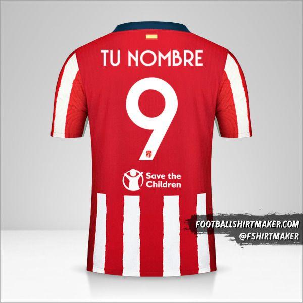 Jersey Atletico Madrid 2020/21 Cup número 9 tu nombre