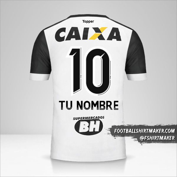 Jersey Atletico Mineiro 2017 II número 10 tu nombre