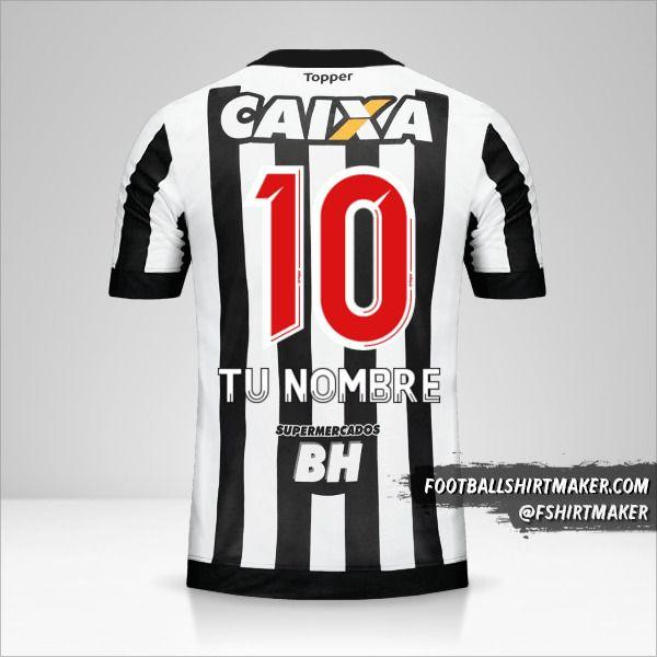 Jersey Atletico Mineiro 2017 número 10 tu nombre