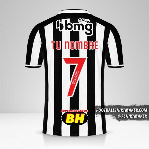 Jersey Atletico Mineiro 2021 número 7 tu nombre