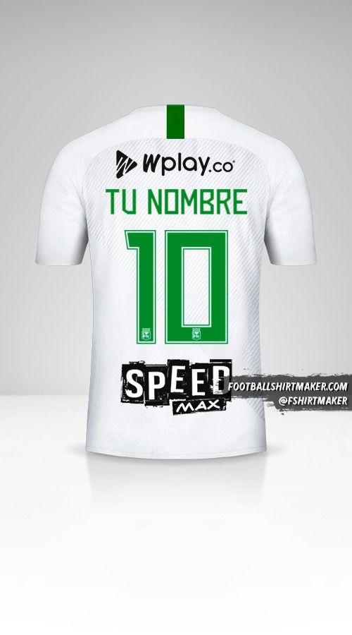 Jersey Atletico Nacional 2019 II número 10 tu nombre