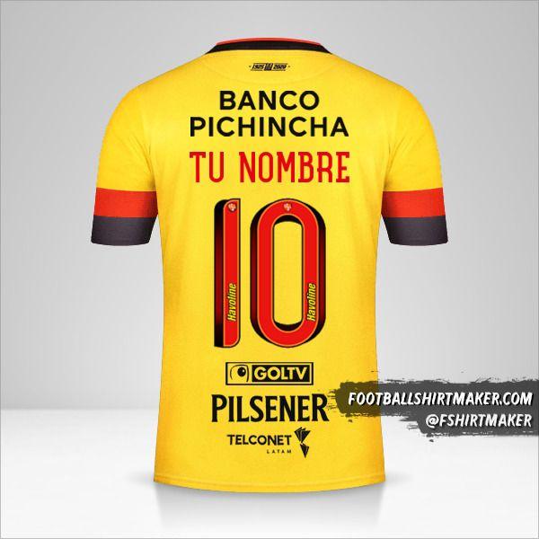 Jersey Barcelona SC 2020 número 10 tu nombre