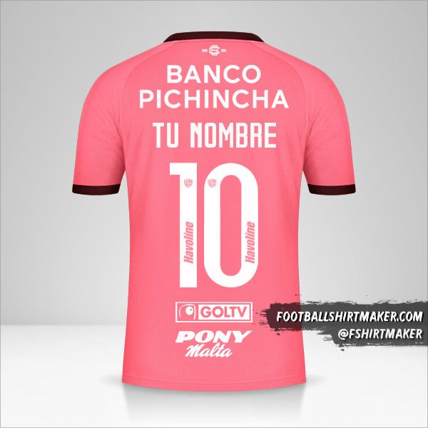 Jersey Barcelona SC 2021 II número 10 tu nombre