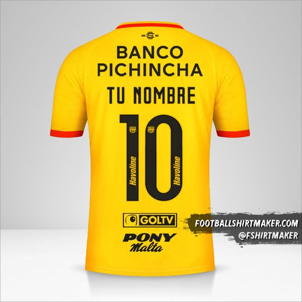 Jersey Barcelona SC 2021 número 10 tu nombre