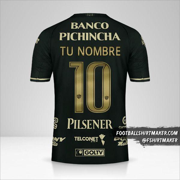 Jersey Barcelona SC 93 Años número 10 tu nombre