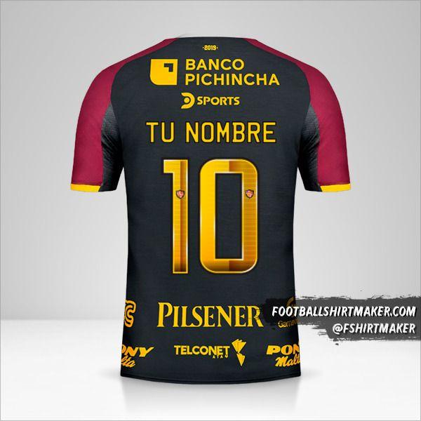 Jersey Barcelona SC 94 Años número 10 tu nombre