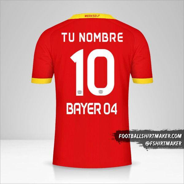 Jersey Bayer 04 Leverkusen 2020/21 II número 10 tu nombre
