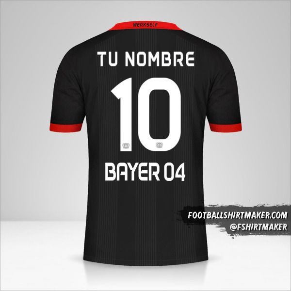 Jersey Bayer 04 Leverkusen 2020/21 número 10 tu nombre