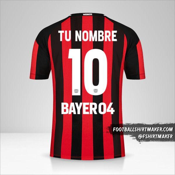 Jersey Bayer 04 Leverkusen 2021/2022 número 10 tu nombre