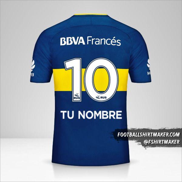 Jersey Boca Juniors 2017/18 número 10 tu nombre
