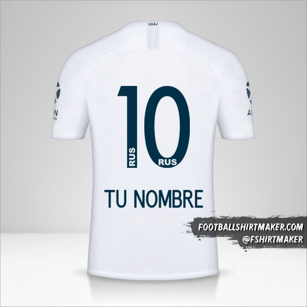 Jersey Boca Juniors 2018/19 II número 10 tu nombre