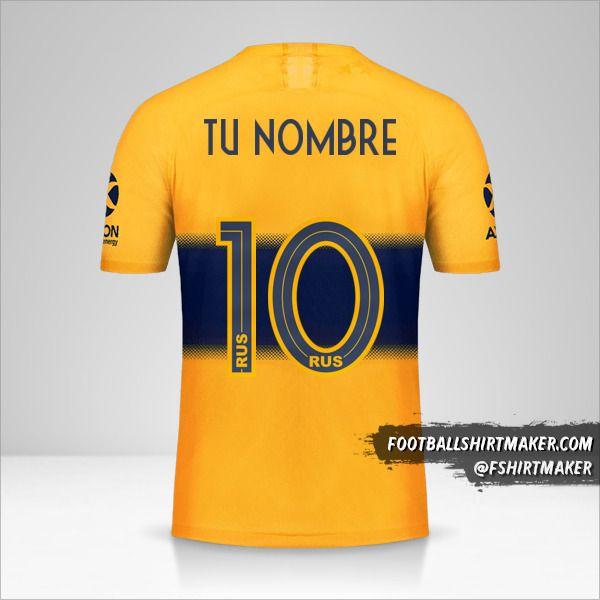 Jersey Boca Juniors 2019/20 II número 10 tu nombre