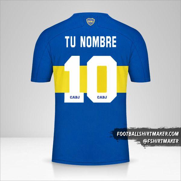 Jersey Boca Juniors 2021/2022 número 10 tu nombre