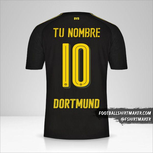 Jersey Borussia Dortmund 2016/17 II número 10 tu nombre