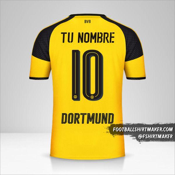 Jersey Borussia Dortmund 2016/17 Cup número 10 tu nombre
