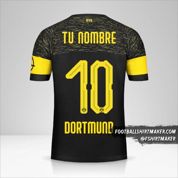 Jersey Borussia Dortmund 2018/19 II número 10 tu nombre