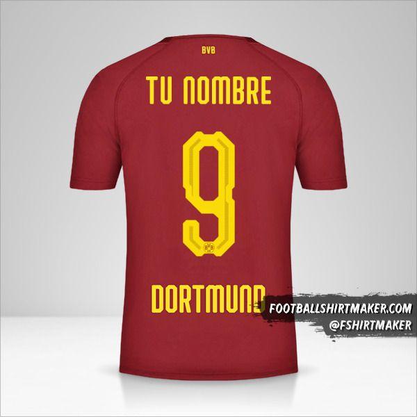 Jersey Borussia Dortmund 2018/19 III número 9 tu nombre