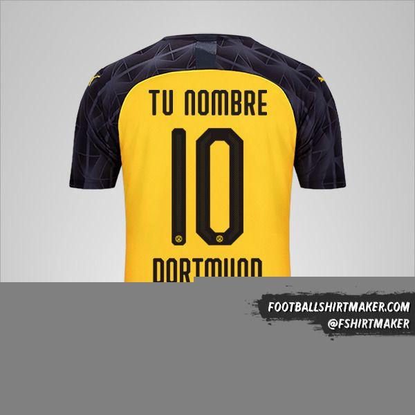 Jersey Borussia Dortmund 2019/20 Cup número 10 tu nombre