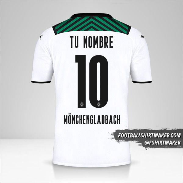 Jersey Borussia Monchengladbach 2021/2022 número 10 tu nombre