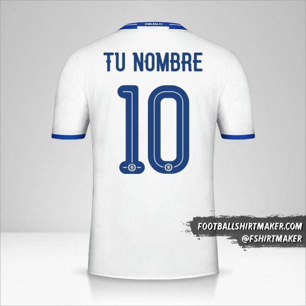 Jersey Chelsea 2016/17 Cup III número 10 tu nombre