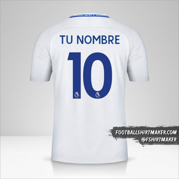 Jersey Chelsea 2017/18 II número 10 tu nombre