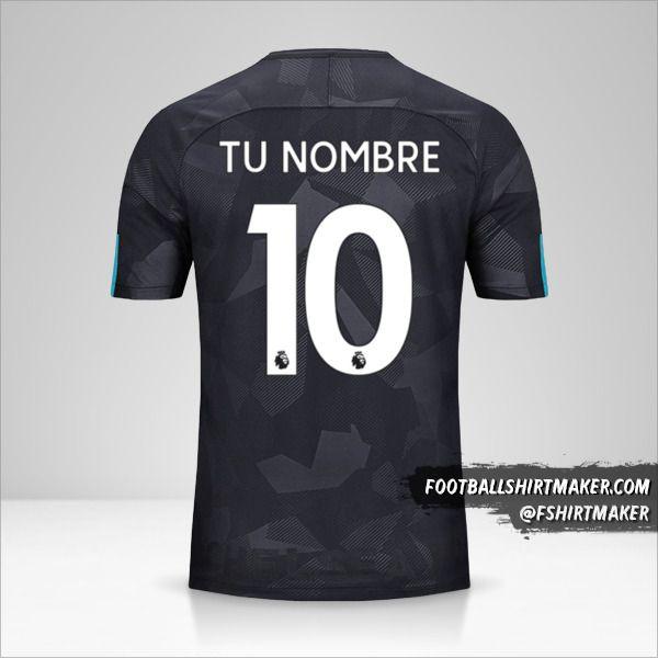 Jersey Chelsea 2017/18 III número 10 tu nombre