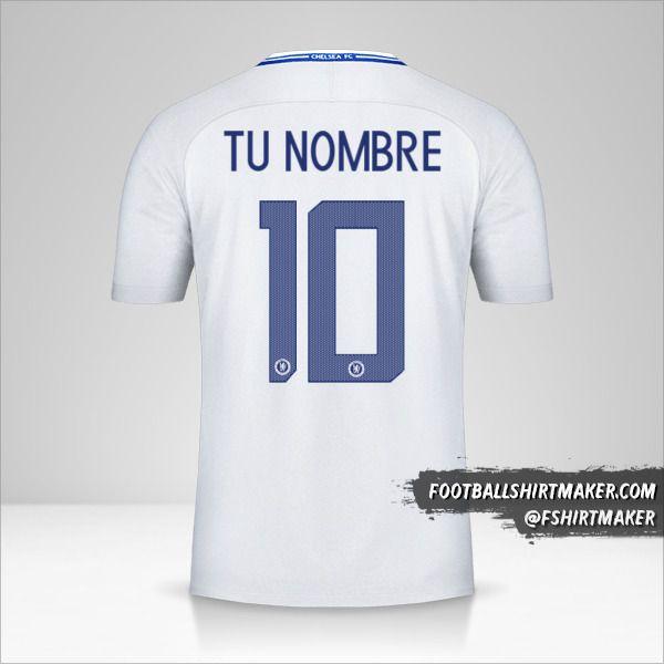 Jersey Chelsea 2017/18 Cup II número 10 tu nombre
