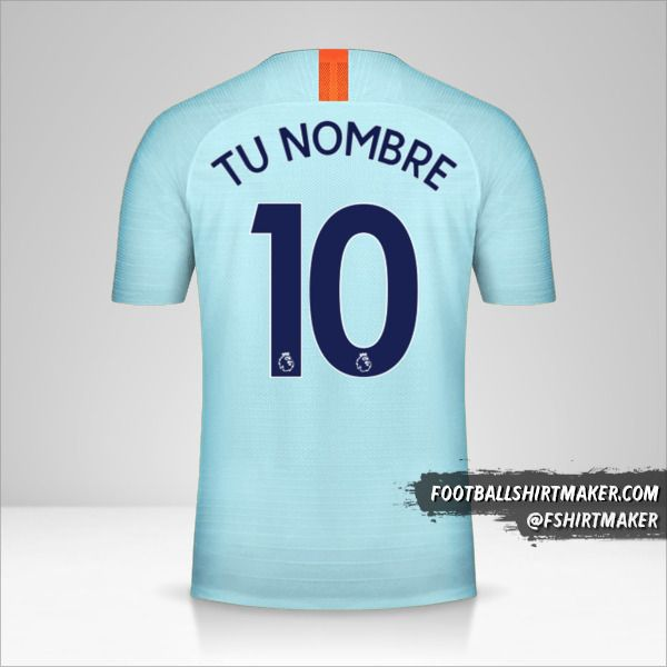 Jersey Chelsea 2018/19 III número 10 tu nombre