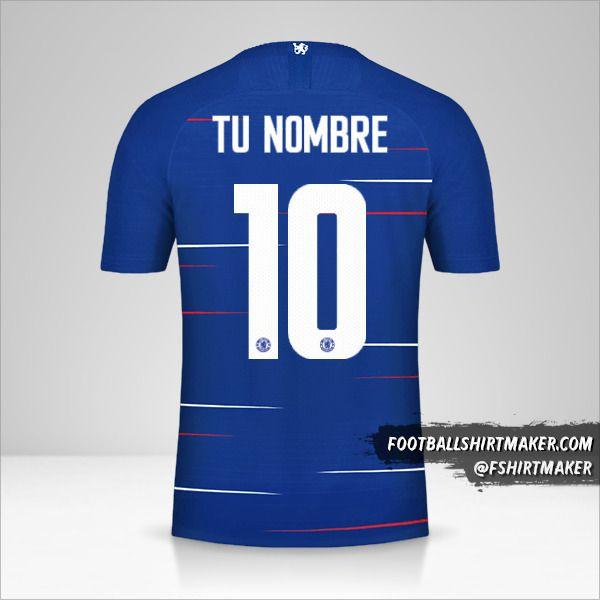 Jersey Chelsea 2018/19 Cup número 10 tu nombre
