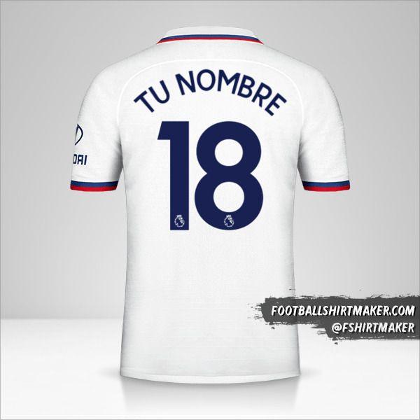 Jersey Chelsea 2019/20 II número 18 tu nombre