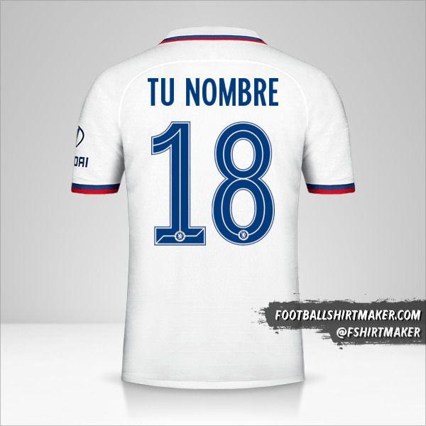 Jersey Chelsea 2019/20 Cup II número 18 tu nombre