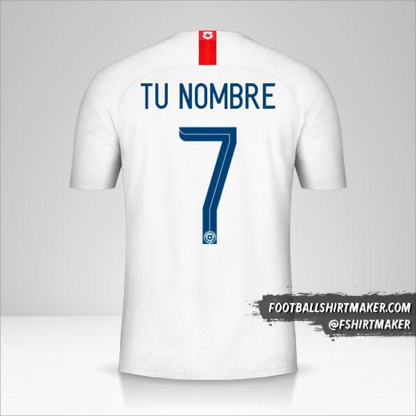 Jersey Chile 2018/19 II número 7 tu nombre